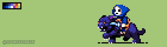 329/365 pixel art : Baby Skeletor and Baby Panthor