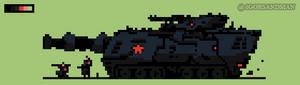 332/365 pixel art : Tank
