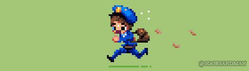 352/365 pixel art : Postman by igorsandman