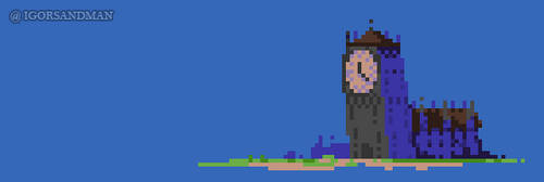 353/365 : pixel art : Clocktower by igorsandman