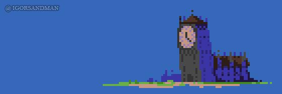 353/365 : pixel art : Clocktower