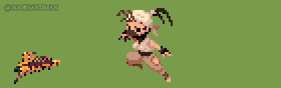 358/365 pixel art : Young Ibuki - Street Fighter by igorsandman