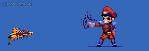362/365 pixel art : Young Bison - Street Fighter