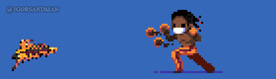 363/365 pixel art : Young Deejay - Street Fighter by igorsandman
