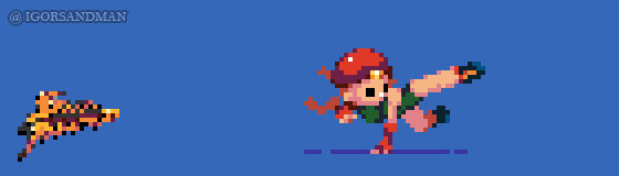 364/365 pixel art : Young Cammy - Street Fighter