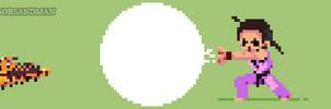 365/365 pixel art: Young Dan - Street Fighter