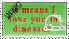 Rawr Stamp by NaruButt