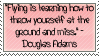 Douglas Adam Quote Stamp by NaruButt