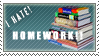 I HATE HOMEWORK STAMP by NaruButt