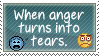 When Anger Turns Into Tears Stamp by NaruButt