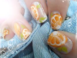 Orange garden by NailsyMo