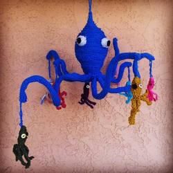 Octopus Mama and Babies by LINDALAYLINDALAY
