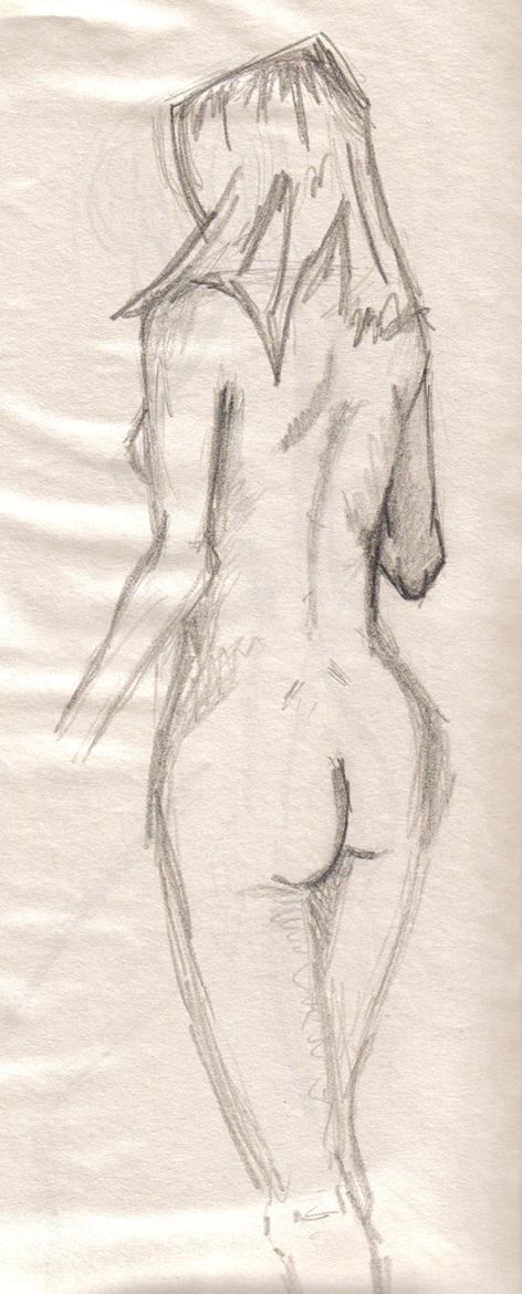 Womans Back Drawing Life Drawing Womans Back by