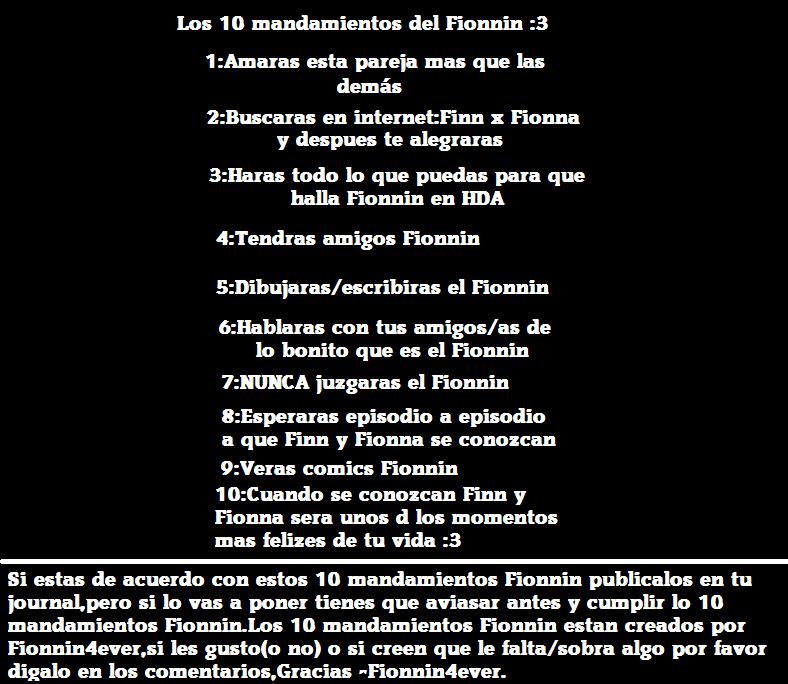 Los 10 mandamientos fionnin by fionnin4ever on deviantart - Los 10 locos mandamientos ...