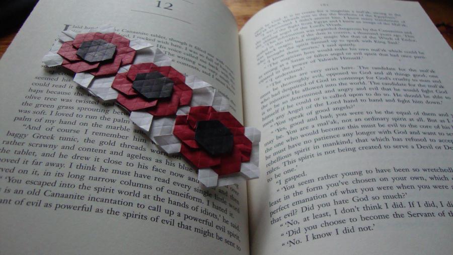 Origami tesselation bookmark 4 poppy flower by katerynas 89 on origami tesselation bookmark 4 poppy flower by katerynas 89 mightylinksfo