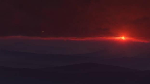 Sunset on P12K35C aka Vortex planet