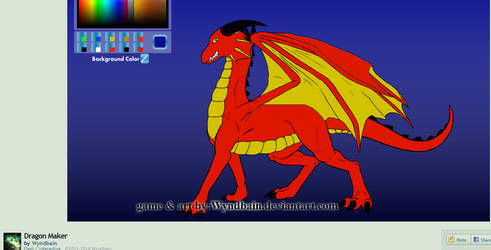 Aneirin the Dragon , eddited with Paint