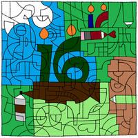 Happy 16th Birthday Deviant Art, Birthday Cake
