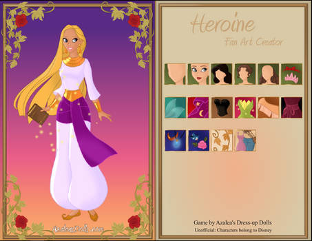 Rebecca the Genie full body white clothes