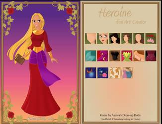 Rebecca the Genie, wearing her red Dress