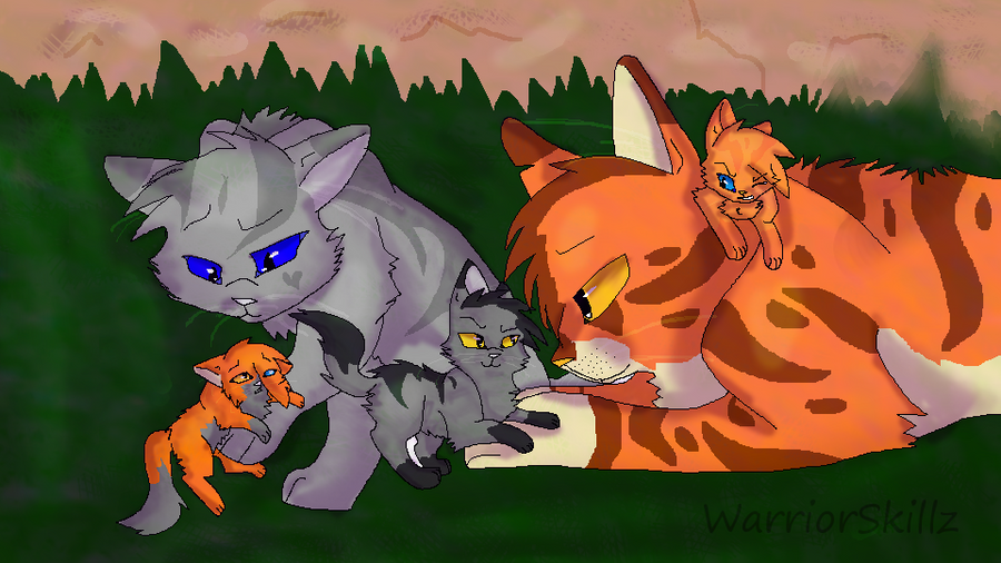 Warrior Cats Kits Lemons  crowfeather and Leafpool by RukiFox on