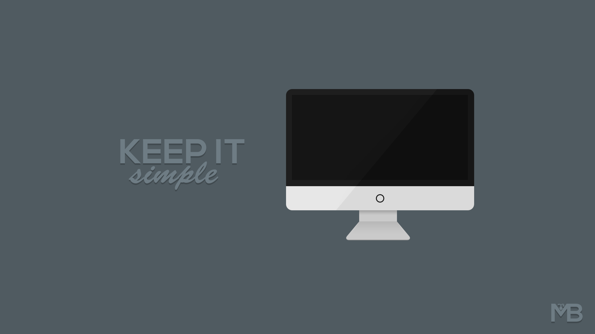 Keep It Simple - Minimalist Wallpaper by MartinBerthelsen