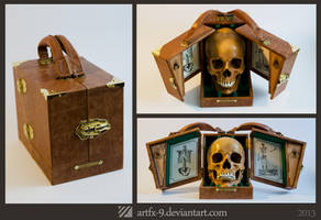 Anatomy Doctor's case - steampunk skull box
