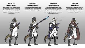 Reigner infantry evolution
