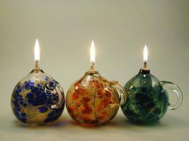 oillamps by Bendzunas-Glass