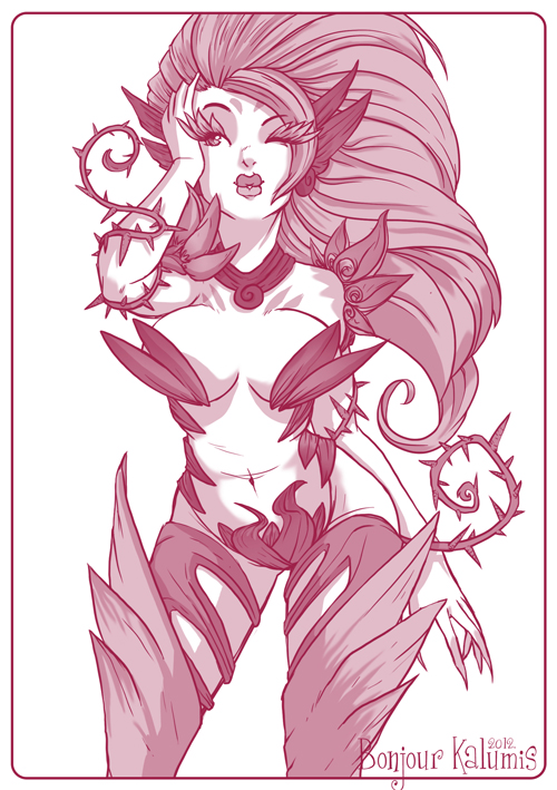 Zyra - League of Legends by Kalumis