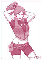Claire Redfield - Resident Evil by Kalumis