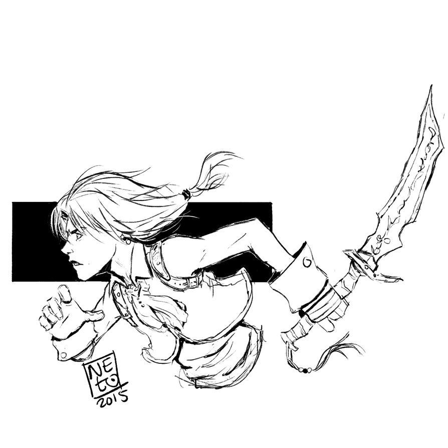 Zidane Sketch by lionheartslayerX