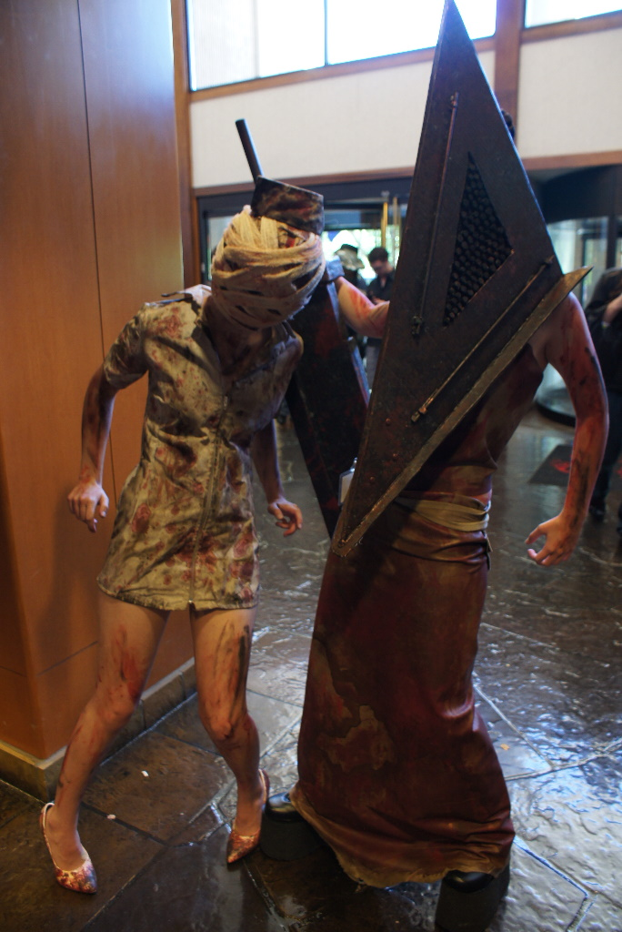 Pyramid Head Bubble head nurse by NaughtsApproach
