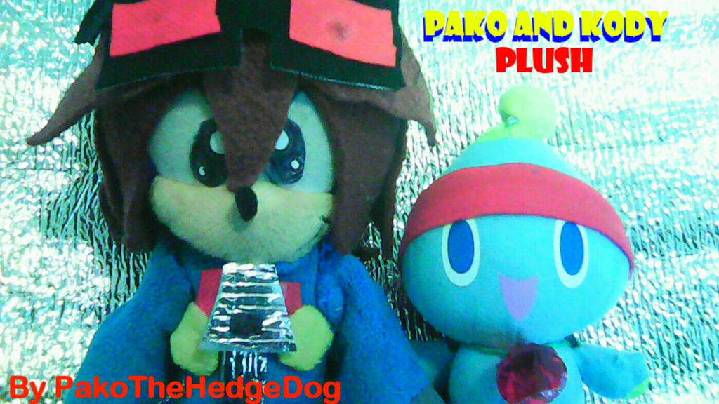 Pako and Kody plush :D by PakoTheHedgeDog