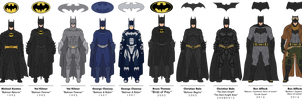 The Batman Live-Action Batsuit Evolution