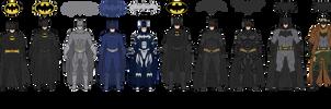 The Batman Live-Action Batsuit Evolution