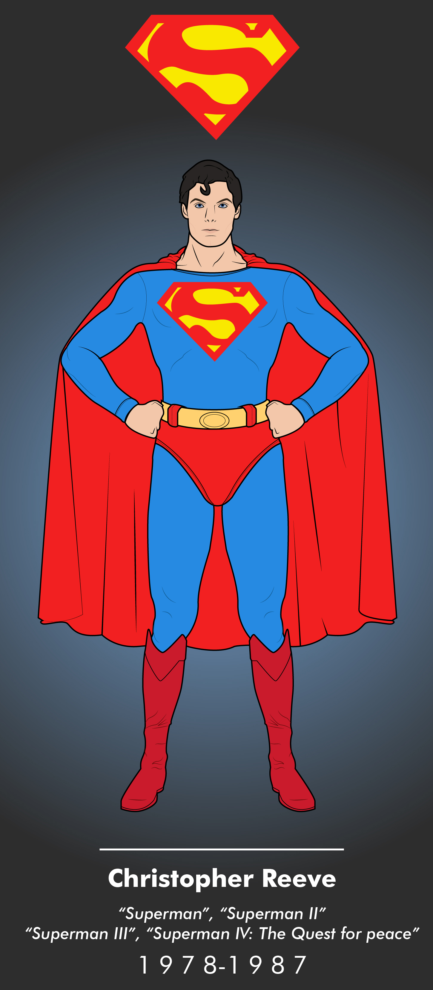 Superman 1978 1987 By Efrajoey1 On Deviantart