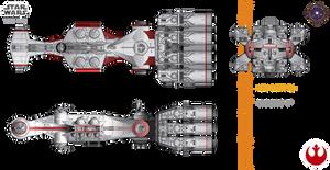 CR90 Corvette (Tantive IV) by efrajoey1