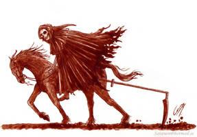 Soultaker (Painted in real blood) by satanen