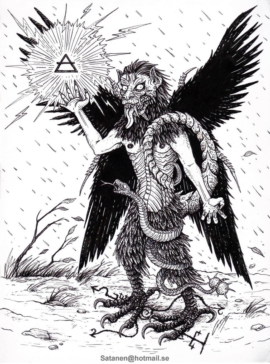 Pazuzu The Bearer of Storms by satanen