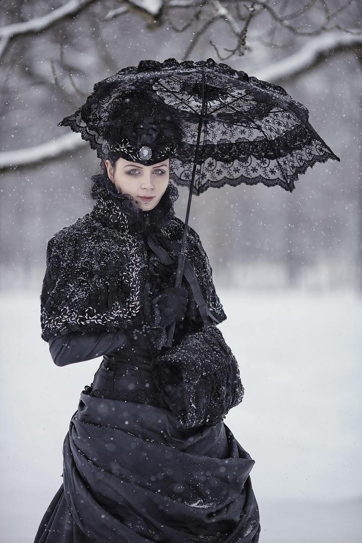 Victorian Winter Gothic Gown by BlackMart on DeviantArt