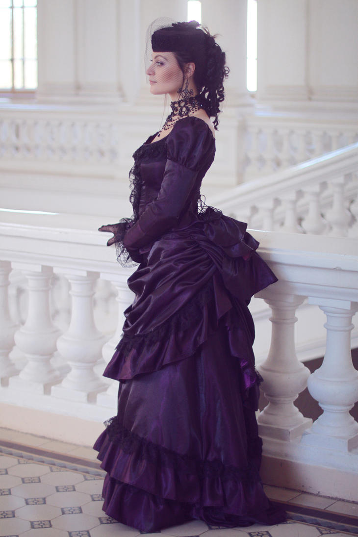 Victorian Gothic Purple Gown by BlackMart on DeviantArt