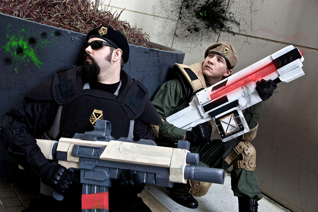 XCOM cosplay Dragoncon 2013 by Cobheran
