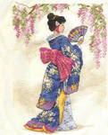 Geisha cross stitch