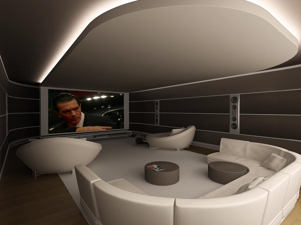 Cinema room by vrlosilepa on deviantart - Fantastic modern architecture in futuristic design with owner passion ...