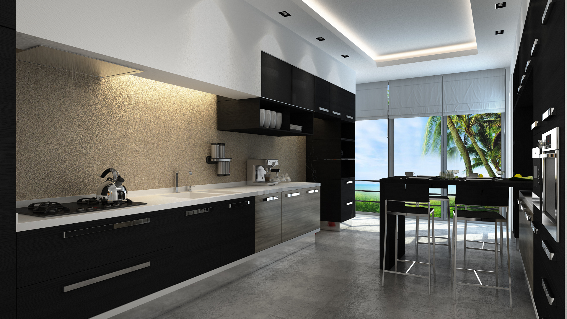 mutfak black kitchen 02 by vrlosilepa on deviantart. Black Bedroom Furniture Sets. Home Design Ideas
