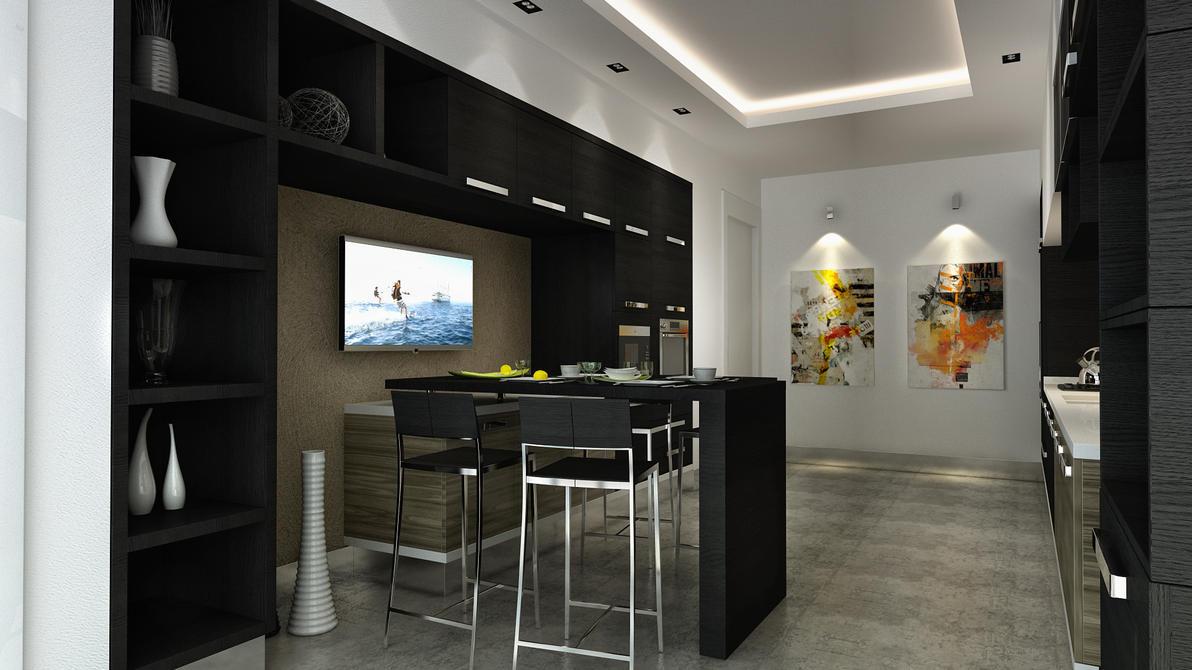 very small loft bedroom ideas - Mutfak Black kitchen 07 by vrlosilepa on DeviantArt