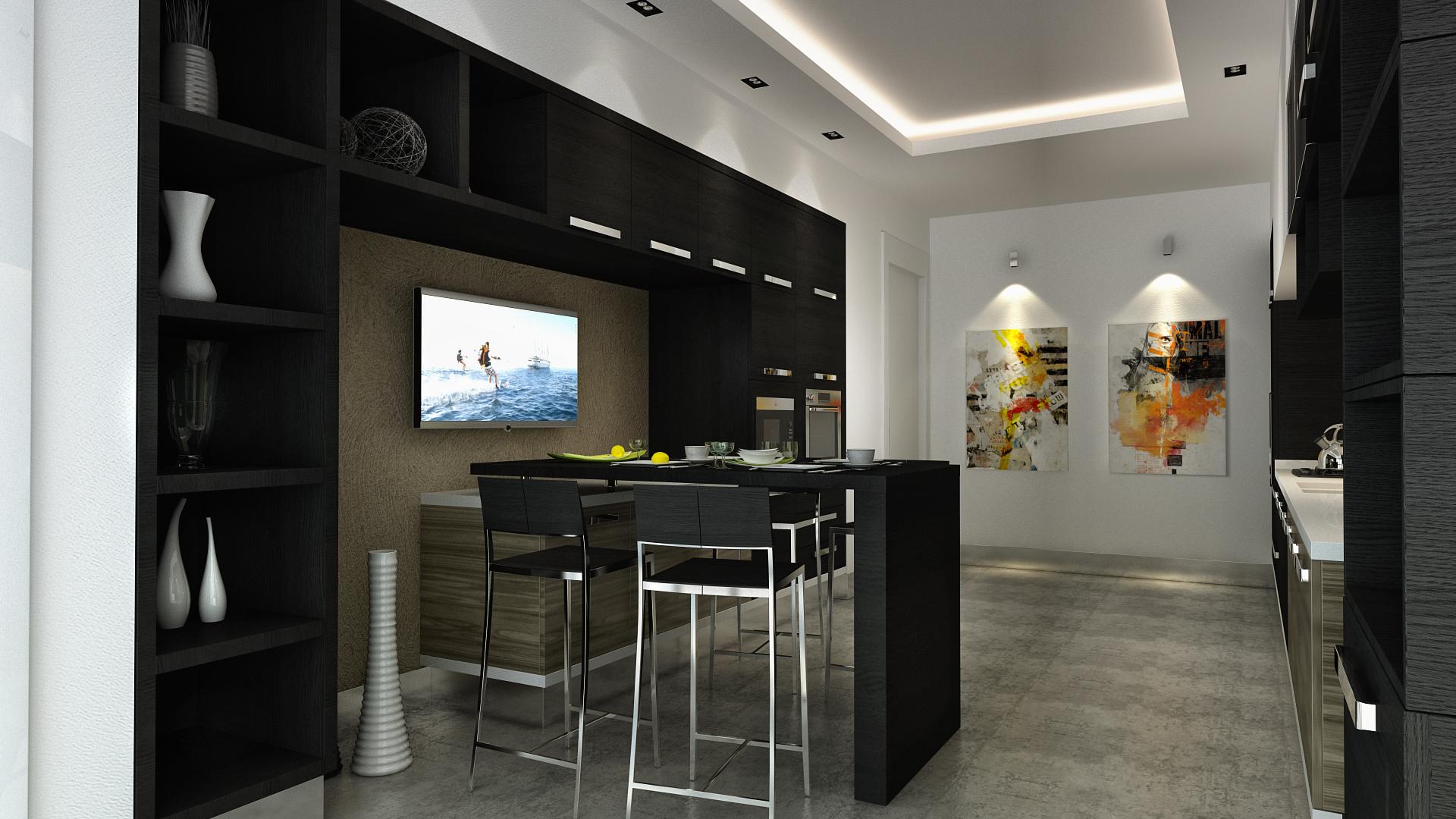 Mutfak Black kitchen 07