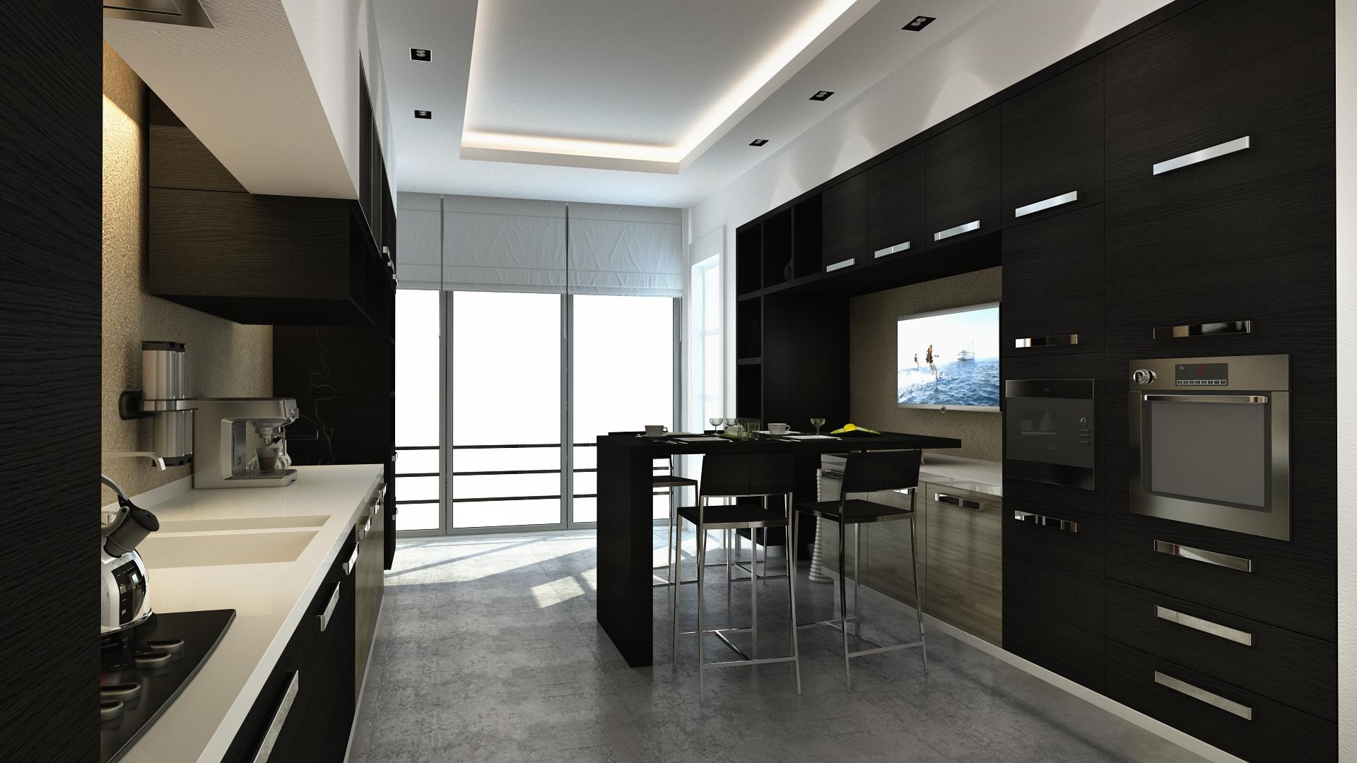 Black Kitchen Cabinets wallpaper  426028
