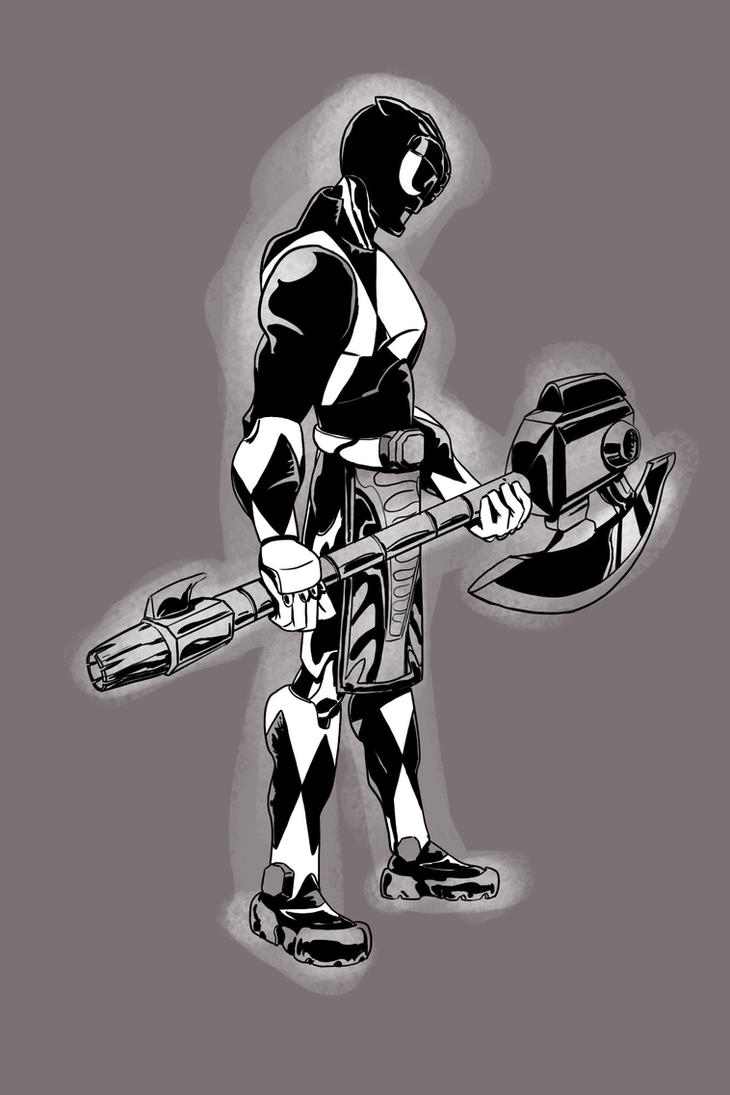 Mighty Morphin Black Ranger by mikethewolf